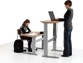 Conset Extra Low Height adjustable desk